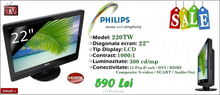 Monitor TV Philips 220TW