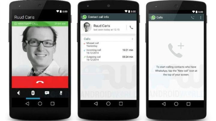 WhatsApp Sesli Arama Özelliği Android'e Geldi
