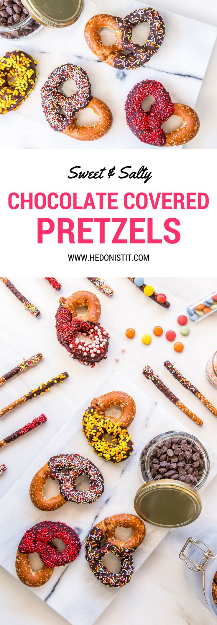 The best party snack and holiday gift! Chocolate covered pretzels recipe - so easy to make at home!