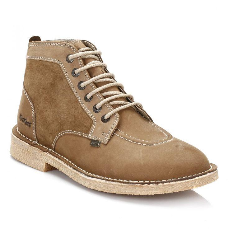 Kickers Mens Light Brown Legendry Boots