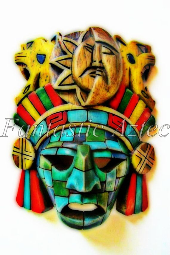 Collection of Five Mayan Warrior Mask Instant by TheFantasticAztec