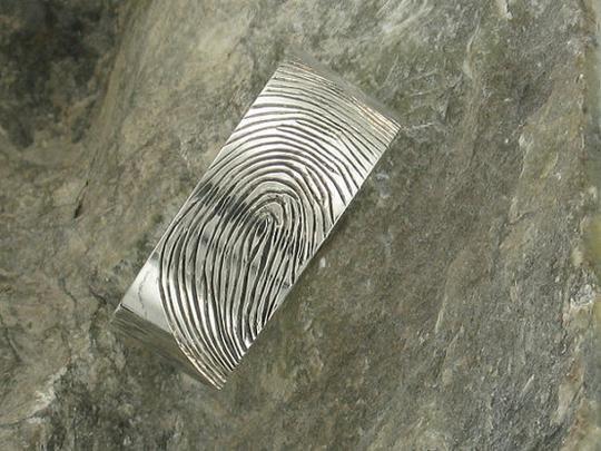 Custom Fingerprint Ring by Metal Monkey Jewellery | Hatch.co