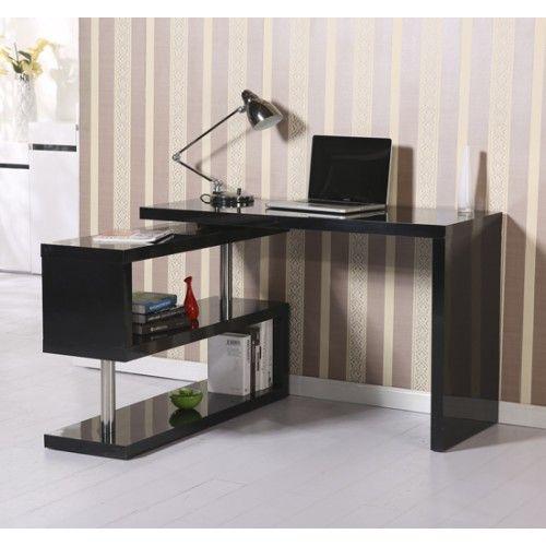 HOMCOM High Gloss Desk Storage Display Shelf Shelving Wooden Bookcase Bookshelf Divider Study