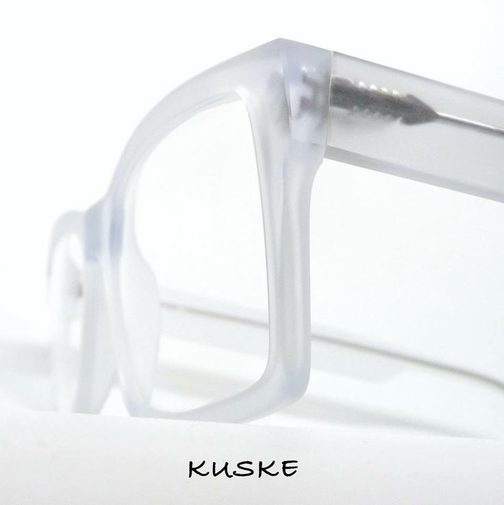 """Cool as! The """"Hemi"""" in matte crystal @KUSKE - beautiful frames for beautiful people"""