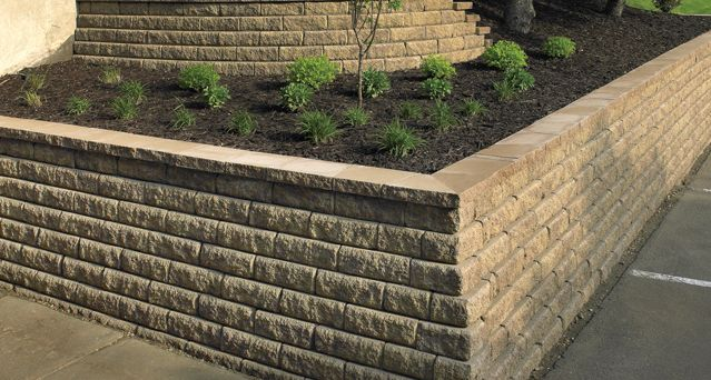 Corner Block Landscaping Ideas : Best images about retaining walls on