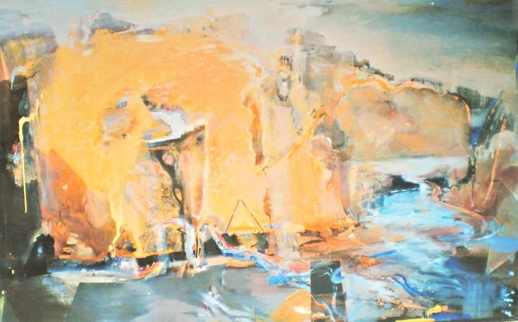 ELAINE d'ESTERRE - Katherine Gorge 2, 2003, oil on canvas 180x240 cm by Elaine d'Esterre at http://elainedesterreart.com and http://www.facebook.com/elainedesterreart/ and http://instagram.com/desterreart/