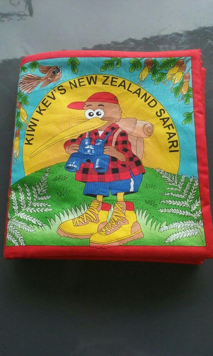 Kiwi Kev Safari. Fabric book.