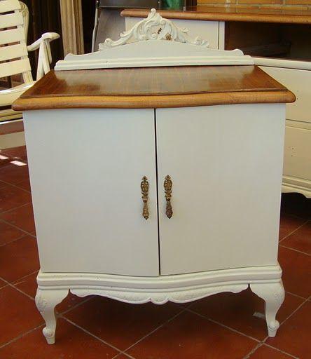 M s de 25 ideas incre bles sobre mesitas auxiliares en - Muebles antiguos pintados de blanco ...
