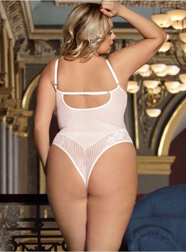 Body Blanc Grande Taille Transparent Liz 2  8501e272399