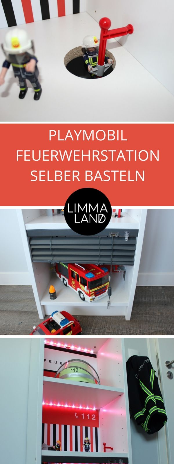playmobil feuerwehrstation selber basteln ikea hack. Black Bedroom Furniture Sets. Home Design Ideas