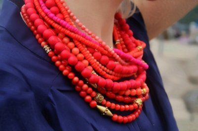 Statement necklace instead of a scarf;  awesome for Texas~!