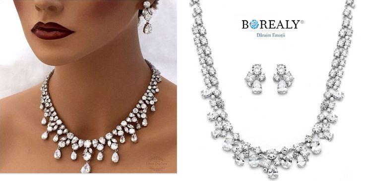 jewelry set zirconia luxury borealy