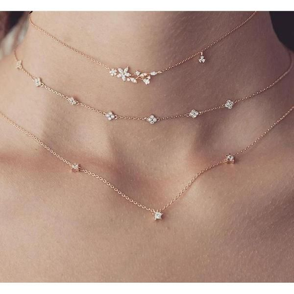 Clementine 3 in 1 Sterling Silver Choker Necklace