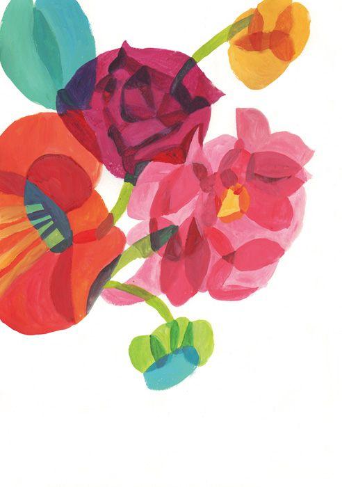 Color theory. Tissue paper or gouache. Hazuki Miyahara