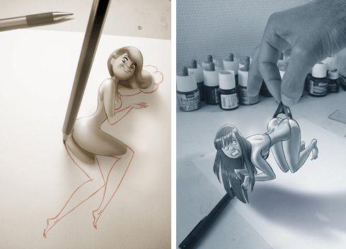 French Illustrators Pin-Ups