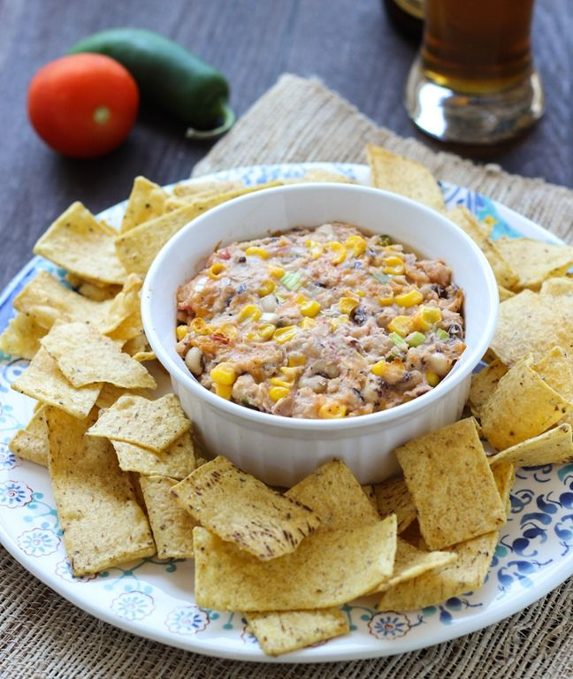 Black Eyed Pea Dip- a creamy bean dip made with jalapeno and sriracha ...