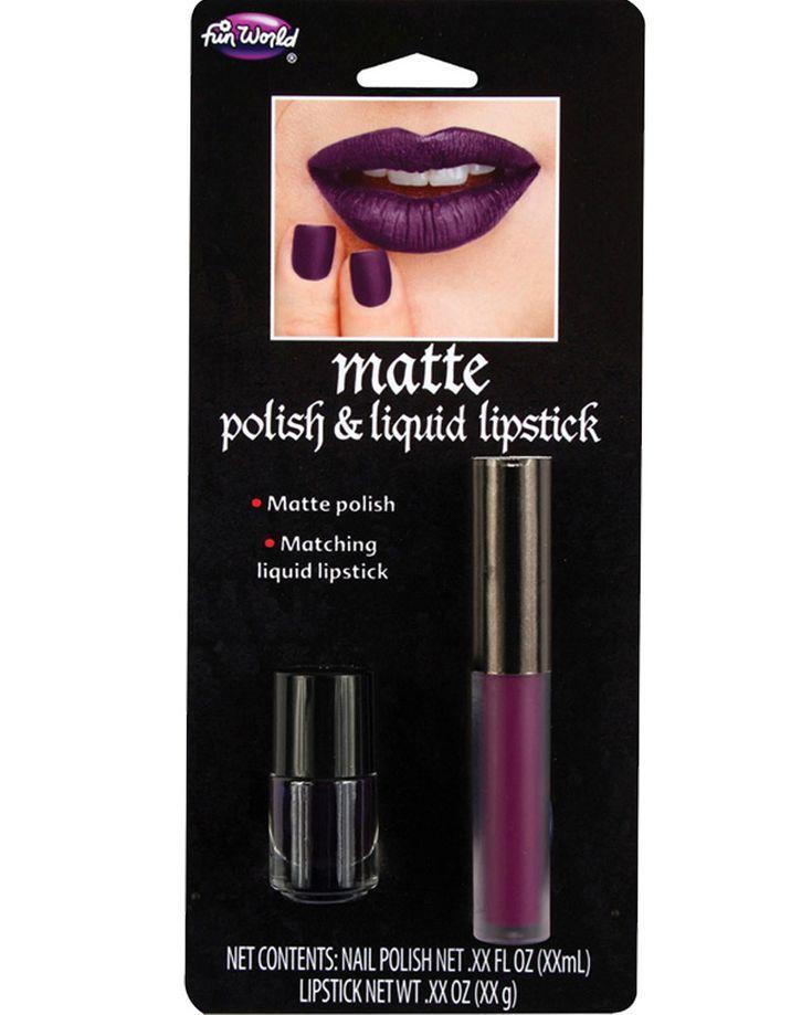Burgundy Matte Nail Polish and Lipstick