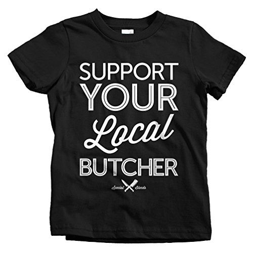 Special Blends Kids Support Your Local Butcher T-shirt - Black, Youth X-Large -- Details can be found by clicking on the image.