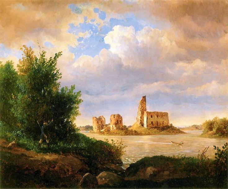 Wojciech Gerson - Ruins of the Castle at Vilnius (Ruiny zamku trockiego pod Wilnem)  1855