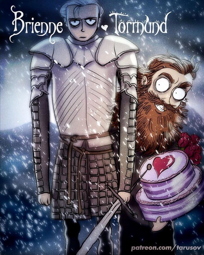 Si Tim Burton illustrait les Personnages de Game of Thrones (1)