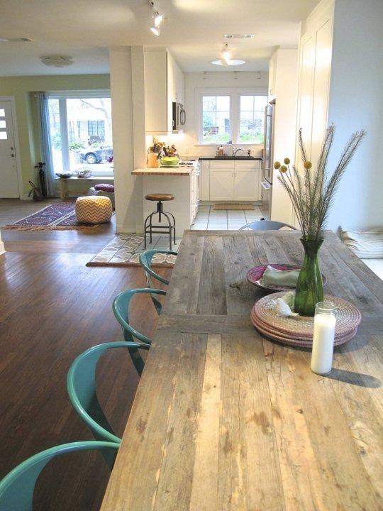 Open Floor Plan Living Dining Room House Tour. Karen & Deborah's Cherrywood Renovation