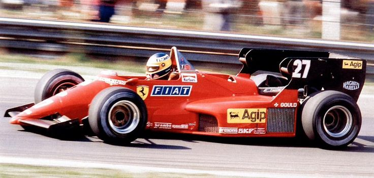 29 April 1984 – Michele Alboreto drives his 126 C4 to victory in the Belgian Grand Prix at Zolder #redseason