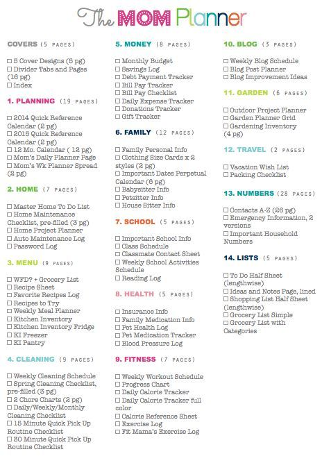 Clean Life and Home: The Mom Planner: Home Management Binder for Moms