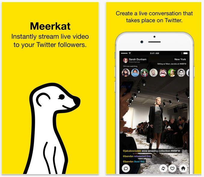 Meerkat para iOS introduce Moobing, integra libreta de direcciones y promociona stream en Facebook
