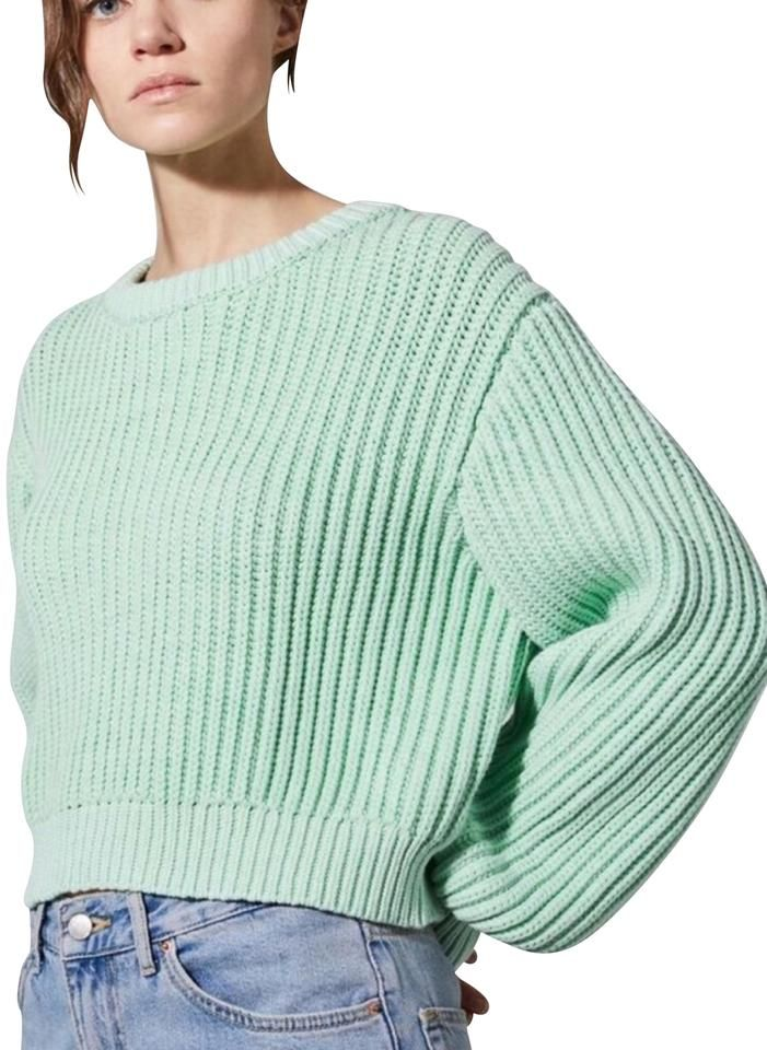 Topshop | Chunky Knit 12 Mint Green Sweater in 2020 | Mint
