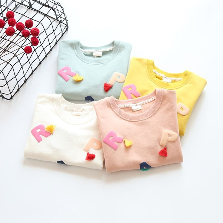 Nice Girls T shirts 2017 full sleeve sweater for Baby Girls clothes kids t shirts letters pairs children clothing sweatershirts - $23.07 - Buy it Now!