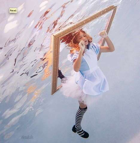 Surreal Fairytale Photography - Flux Fotography's 'Alice in Wonderland' Goes Down the Rabbit Hole (GALLERY)