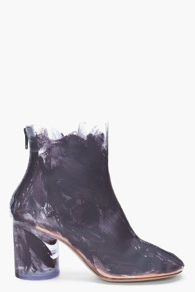 Maison Martin Margiela Painted Transparent Boots for women | SSENSE