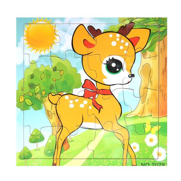 Fa puzzle 16 darabos- kicsi őzikém   Pandatanoda.hu Játék webáruház