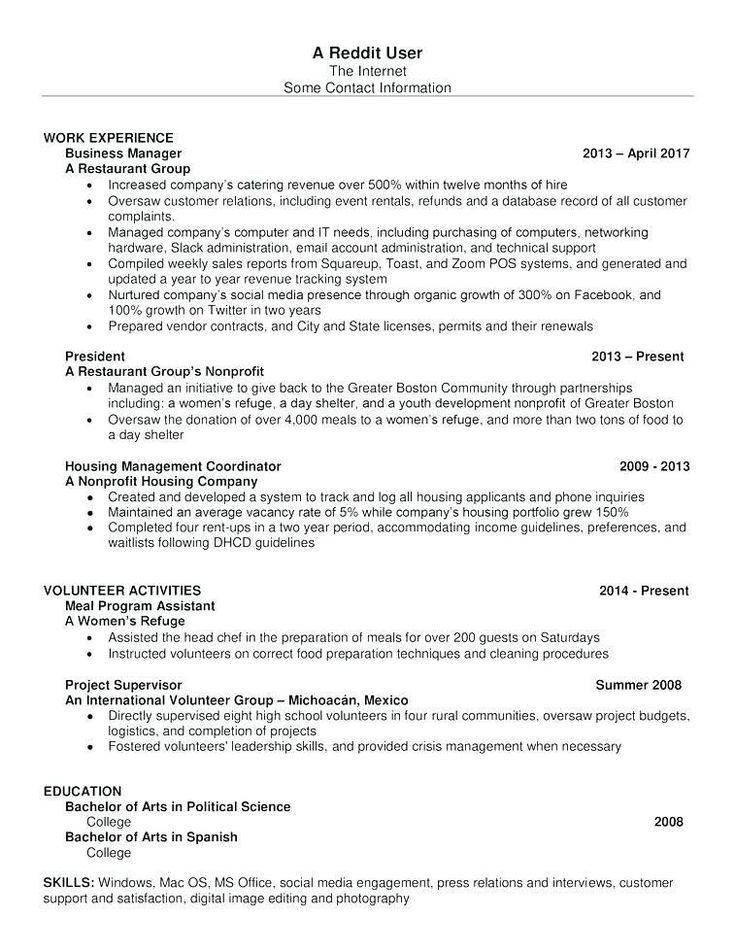 Resume templates reddit 2018 resumetemplates in 2020