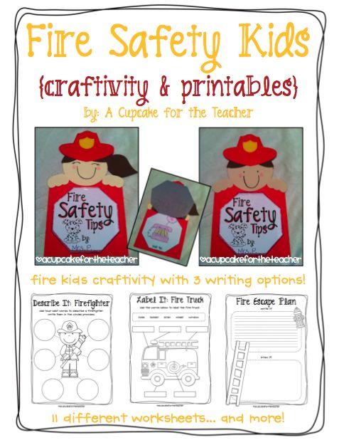 Fire Safety Craftivity Ideas & Printables