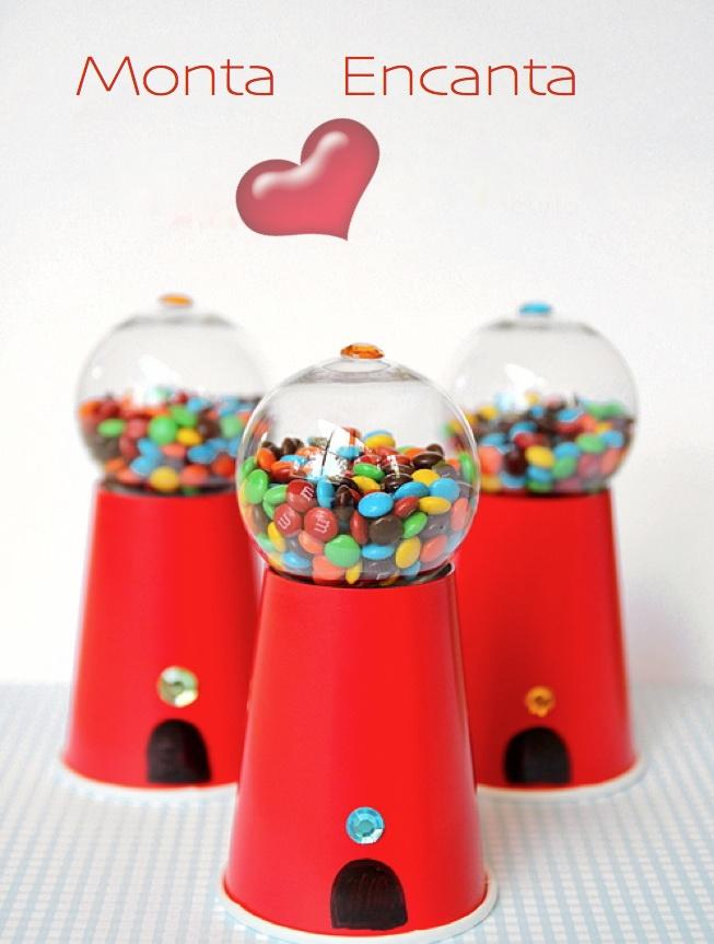 DIY-festa | Monta Encanta: Party Favors, Machine Parties, Diy'S, Diy Candy, Parties Favors, Gumball Machine, Candy Gumball, Parties Ideas, Crafts