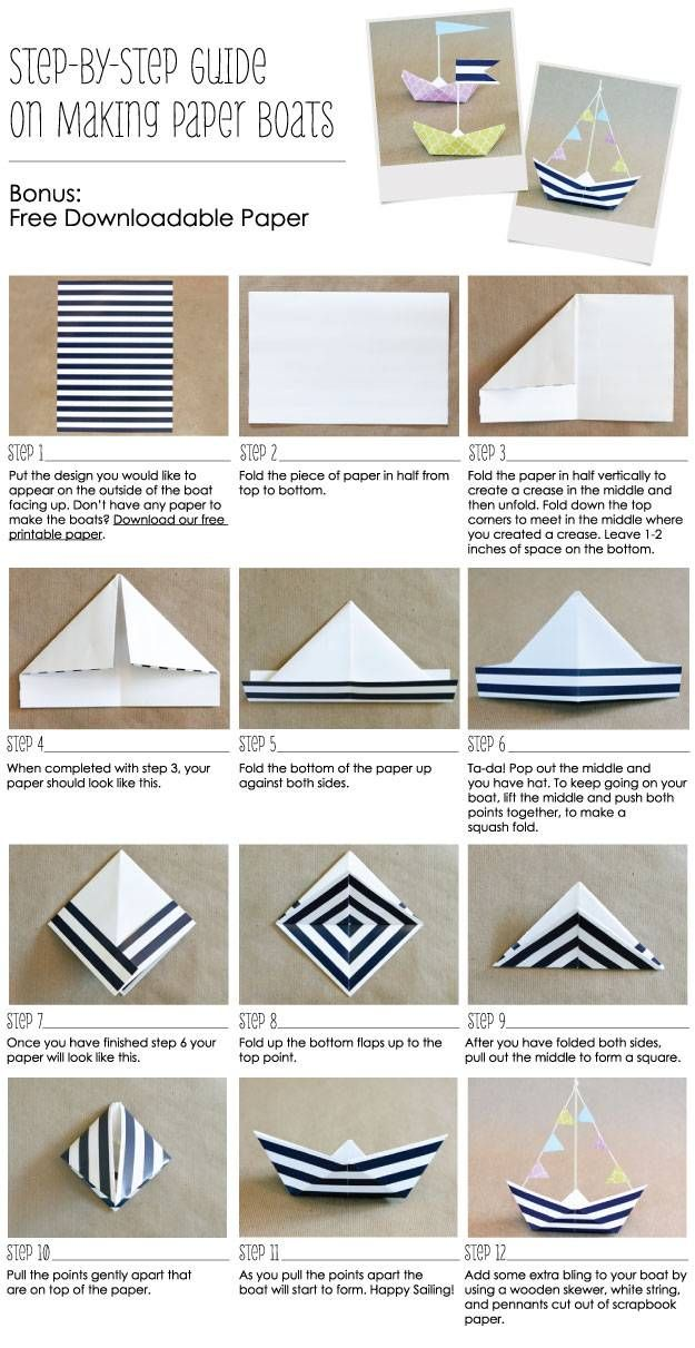 Step By Step Instructions On How To Make A Paper Boat