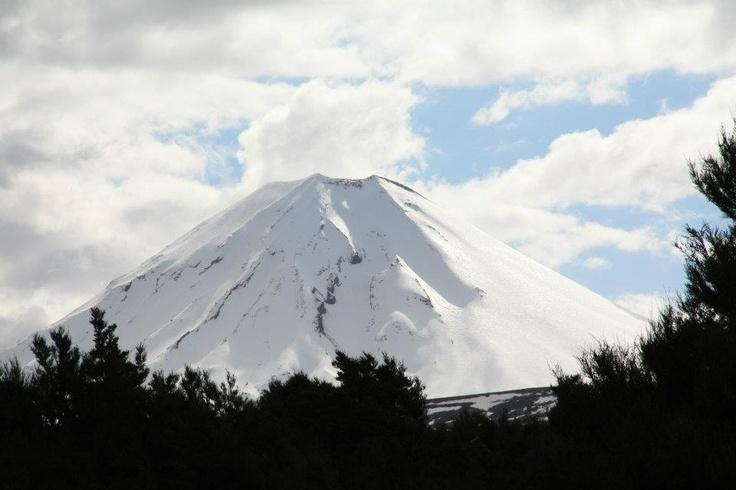Ngaruhoe. A beautiful volcano.    New Zealand