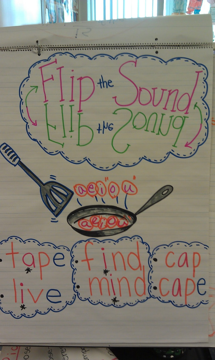 Flip the Sound anchor chart
