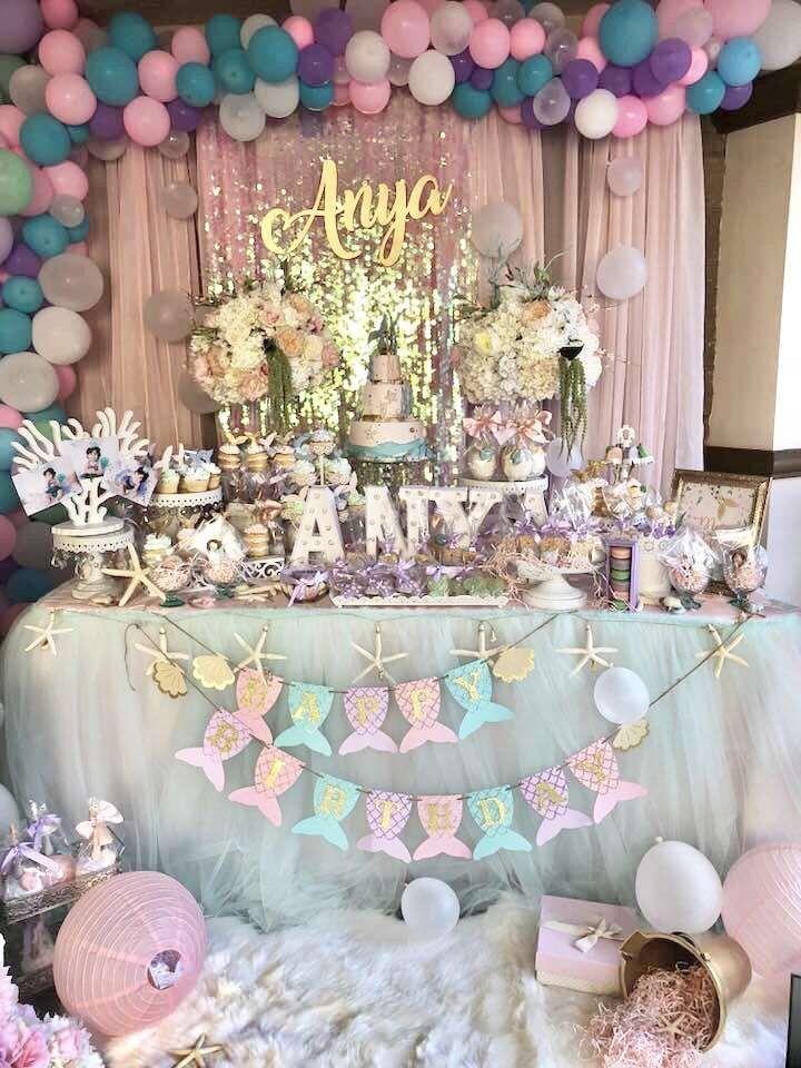 Under The Sea Birthday Party Ideas Disney Princess Birthday Party
