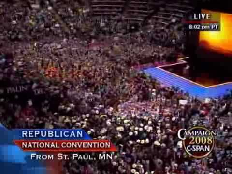 C-SPAN: Vice Presidential Candidate Gov. Sarah Palin (AK) Full Speech at 2008 RNC Convention accepting nomination for Vice President of the United States.