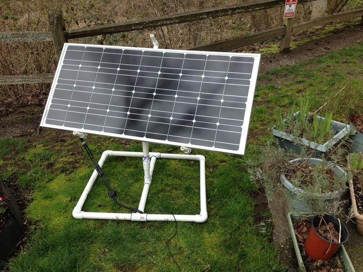 Rotating Solar Panel Stand Front View Solar Panels