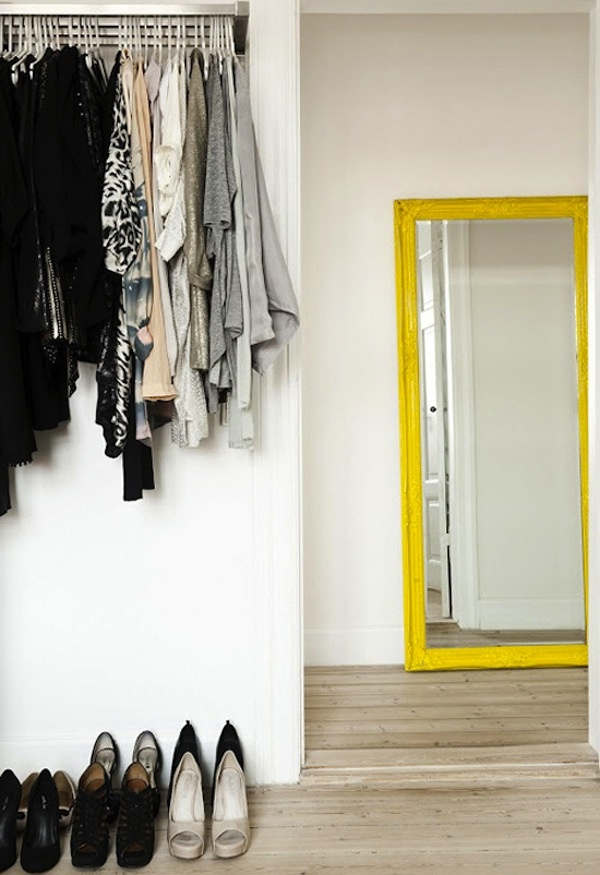Love this yellow mirror