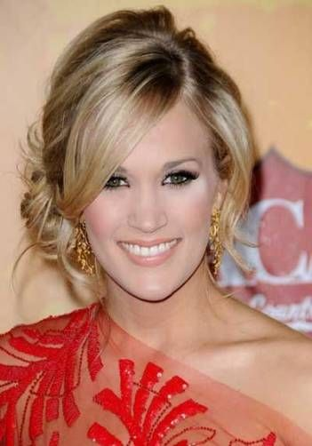 54+ Super Ideas Bridal Hairstyles For Long Hair Sideswept Carrie Underwood