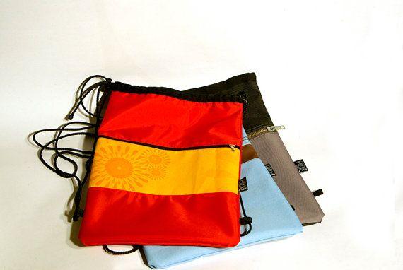 gym bag shoe bag gymsack sport bag swim bag by thePAUbag on Etsy