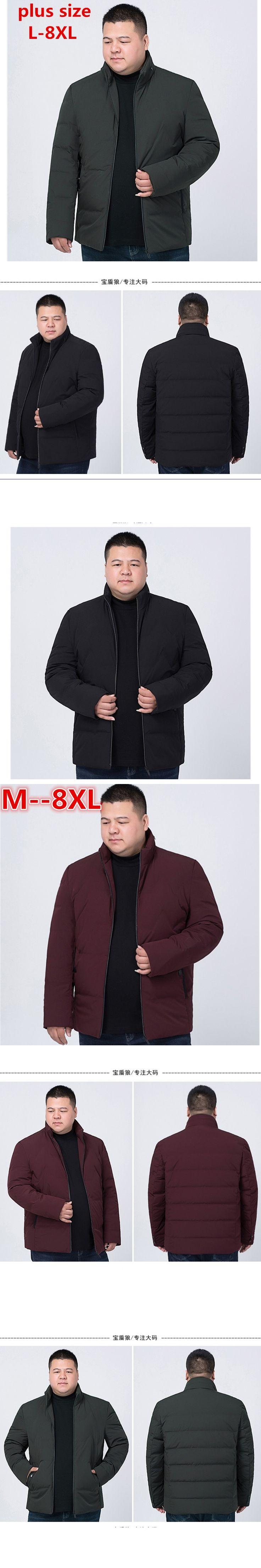 new BIG SIZE 8XL 7XL 6XL 2017 Hot Sale Men Winter Splicing Cotton-Padded Coat Jacket Winter Parkas High Quality plus large size