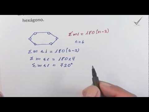 Calcular la suma de los ángulos internos de un hexágono. http://youtu.be/S0jT6CL_UEQ