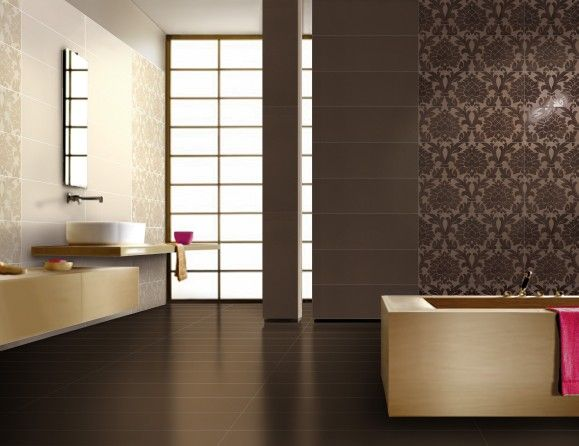 New baroque velvet italian ceramic tiles in ivory and for Baroque style bathroom