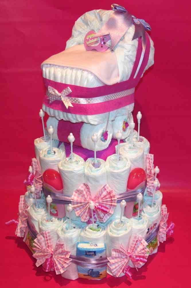Windeltorte Mit Windelkinderwagen Pro Miminka Nappy Cakes Baby