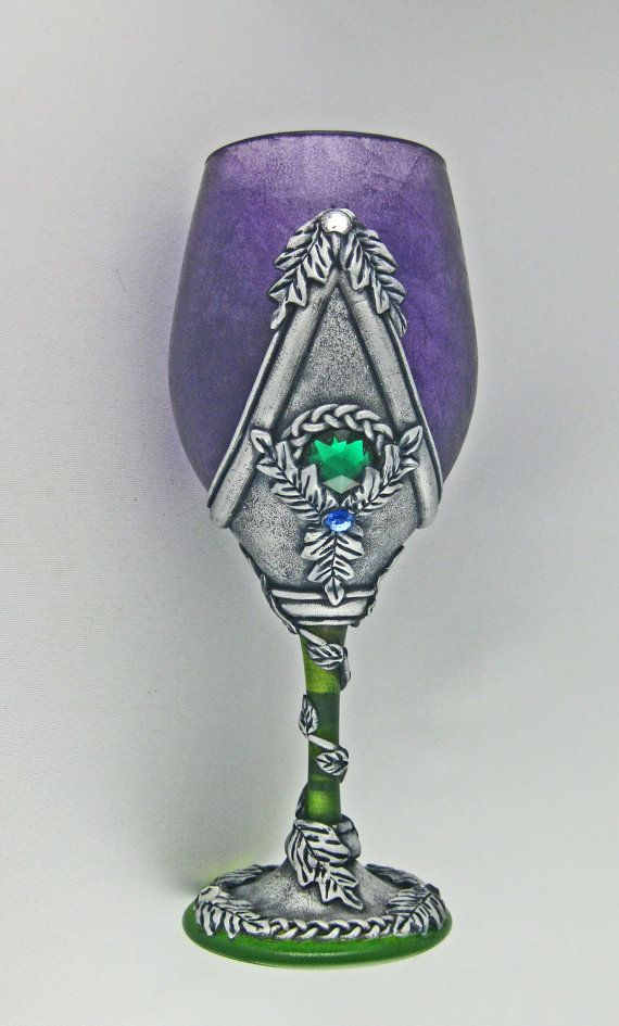 Celtic Medieval Style Goblet Celtic Wine by KismetClayDesigns